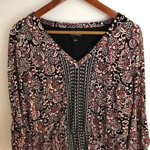 Roz & Ali - 3/4 Length Sleeve Dress